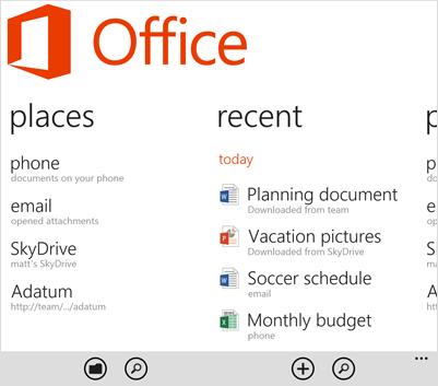 Windows Phone 8 office