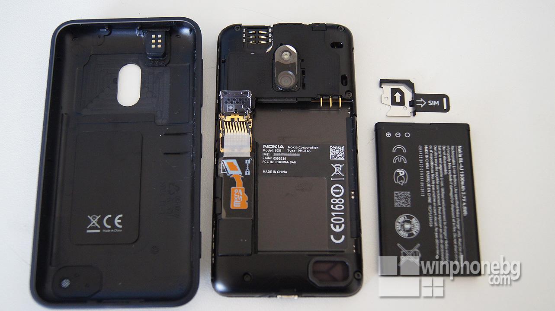 Nokia Lumia 620 back cover