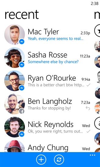 Facebook Messenger за Windows Phone